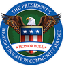 The President's Higher Education Community Service seal