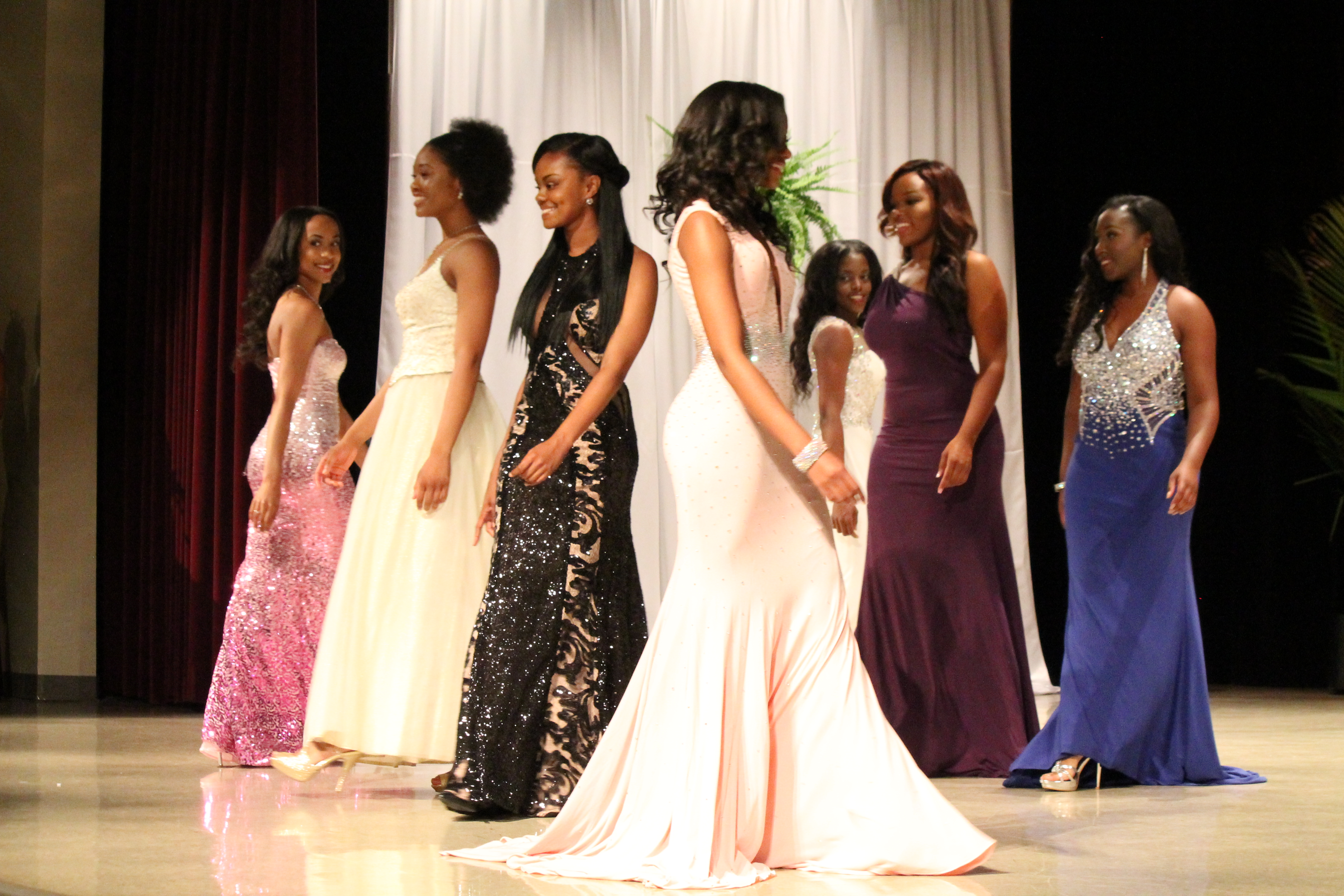 Participants of the Miss Claflin University Pagent
