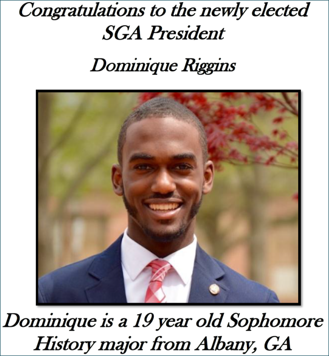 Newly Elected President Dominique Riggins' Headshot