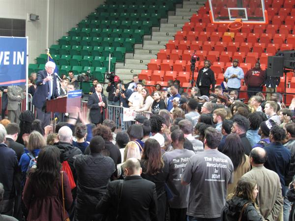 Bernie Sanders Speaking at Claflin