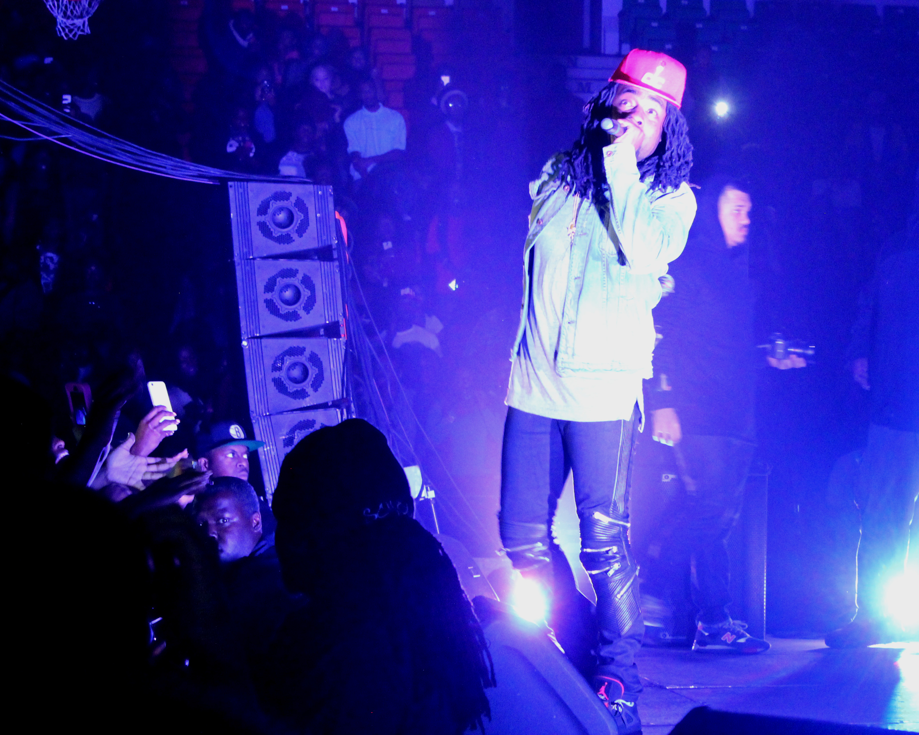 Wale performing at Claflin