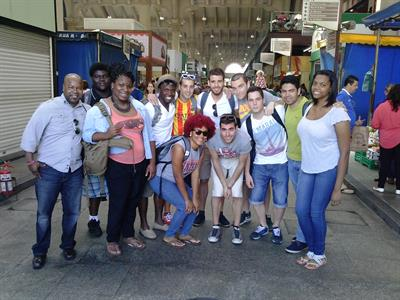 Students and Teacher Group Brazil Trip