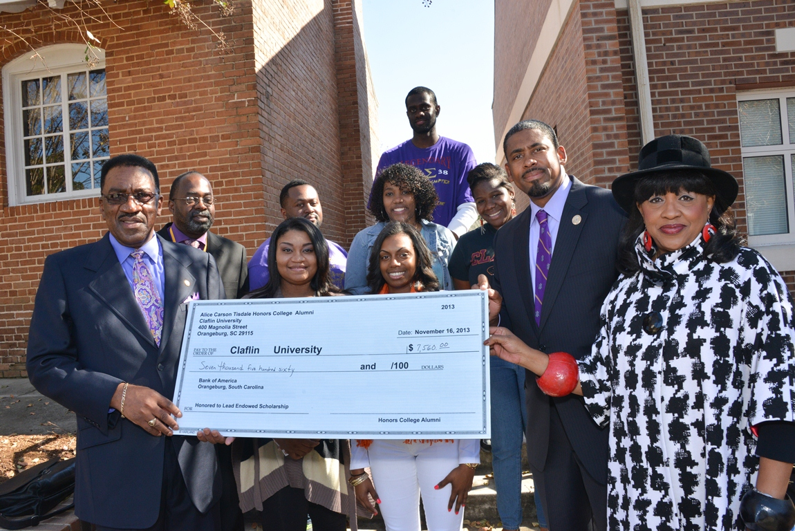 Donation to Claflin from Alice Carson Tisdale