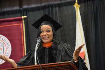 Margarita Anderson Giving Speech at Claflin