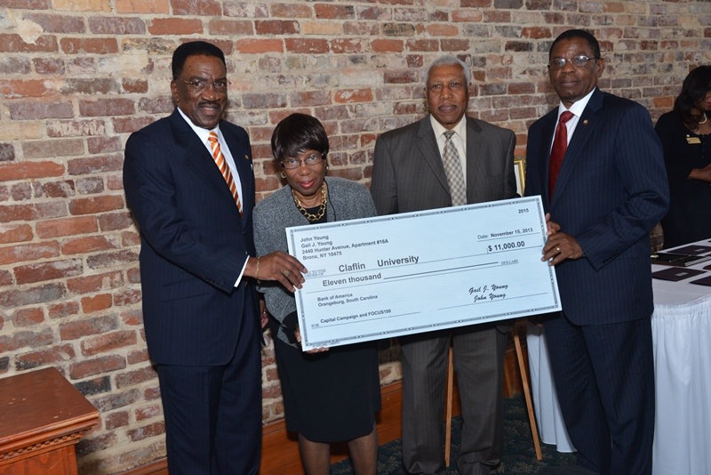 Tisdales Giving Claflin Donation of 250,000 dollars