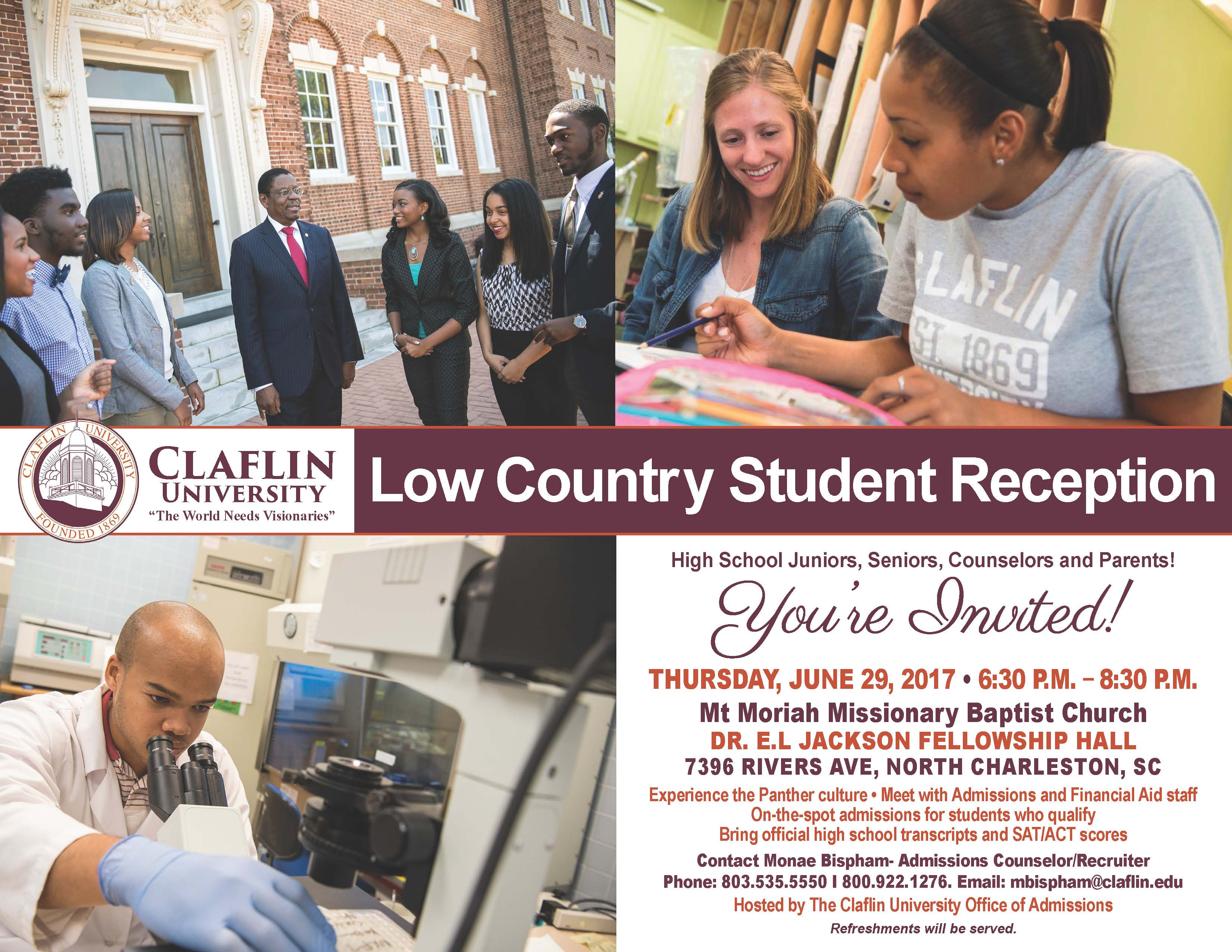 2017 Low Country Student Reception