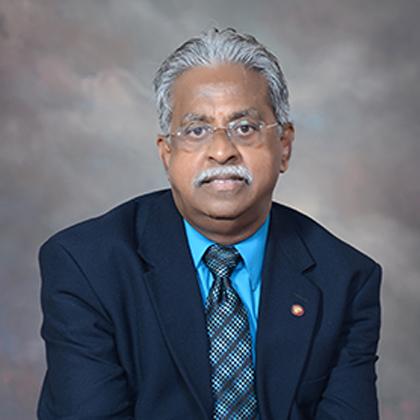 Dr. Raja's resized headshot for the university's website