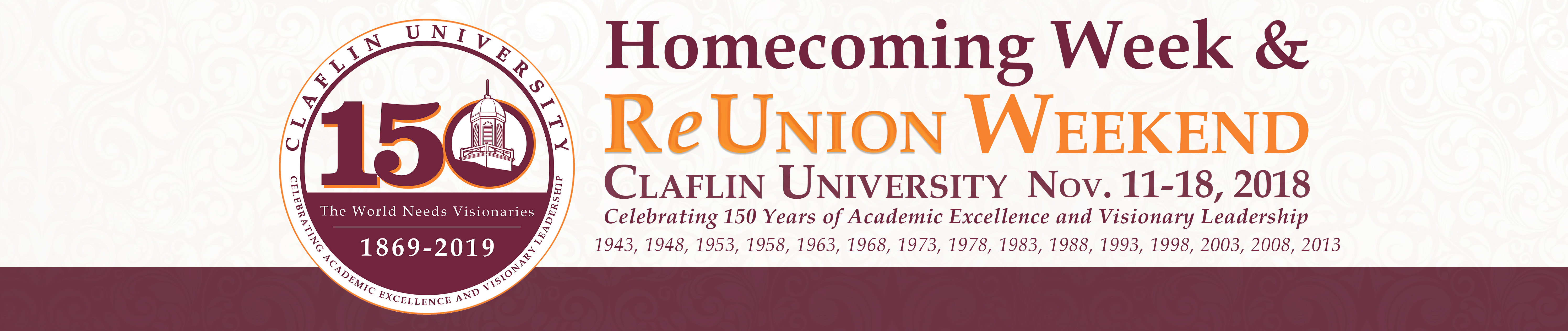 Home coming page banner