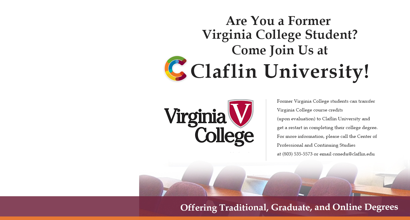 Virginia College Informational Banner