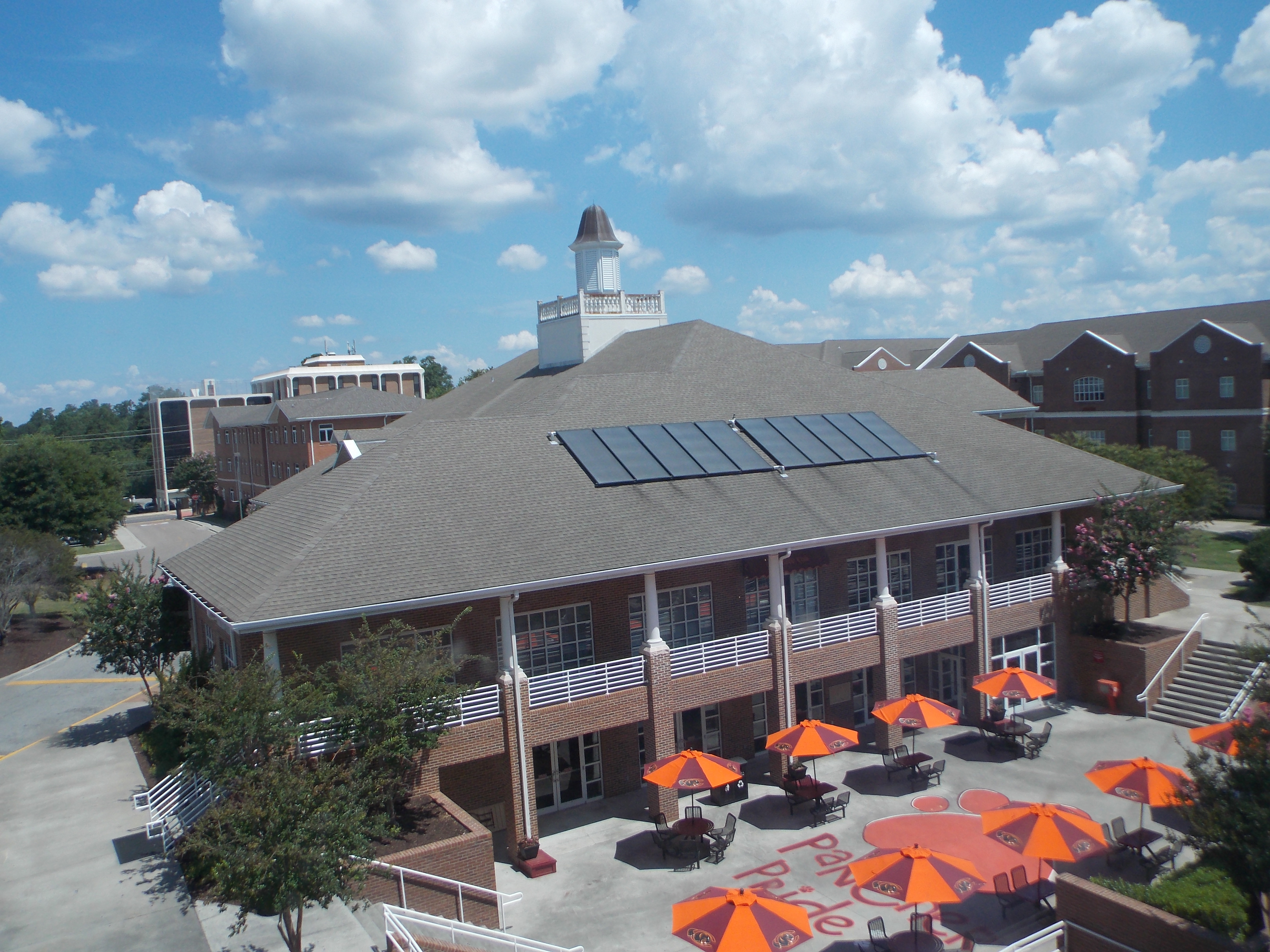 Dining Center with Solar Panels on Roof