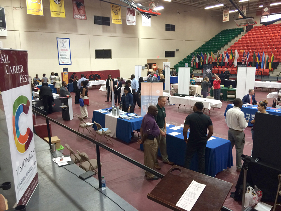 Attendees at the Fall Career Fest