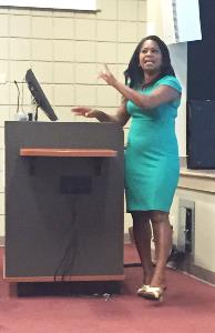 Deanna Brown-Thomas Giving Speech at Claflin