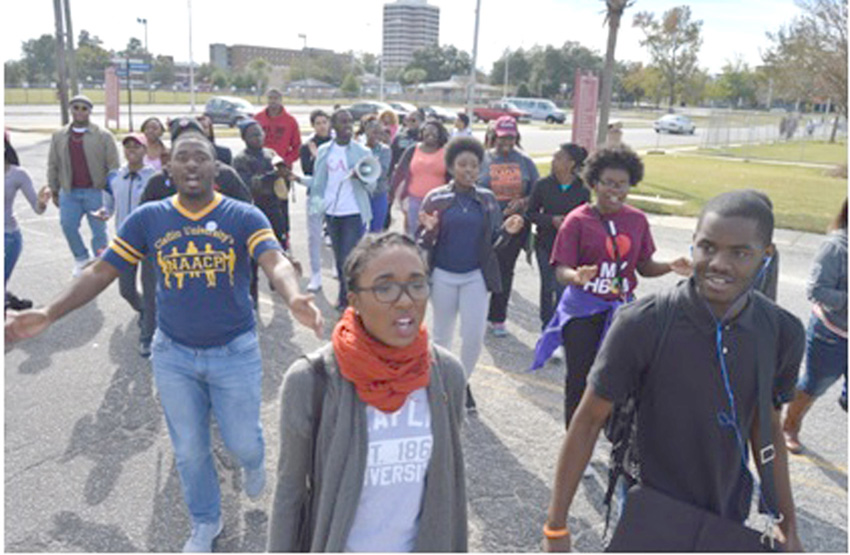 Claflin Students March to Polls