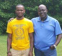 Father and Son Celebrate Academic Achievement