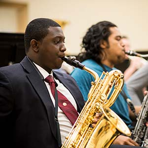 Saxophone players