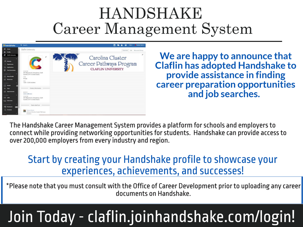 HANDSHAKE Career Management System
