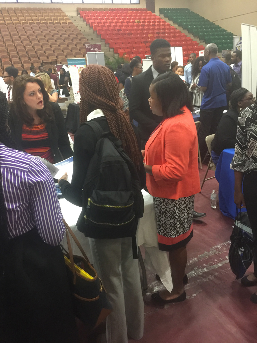 career fair students jenell green