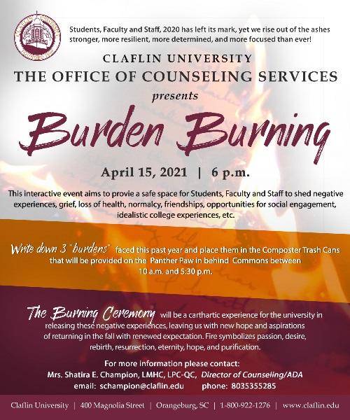 Burden Burning