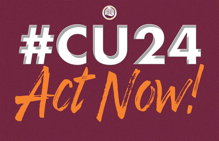 CU24 ACT NOW sign