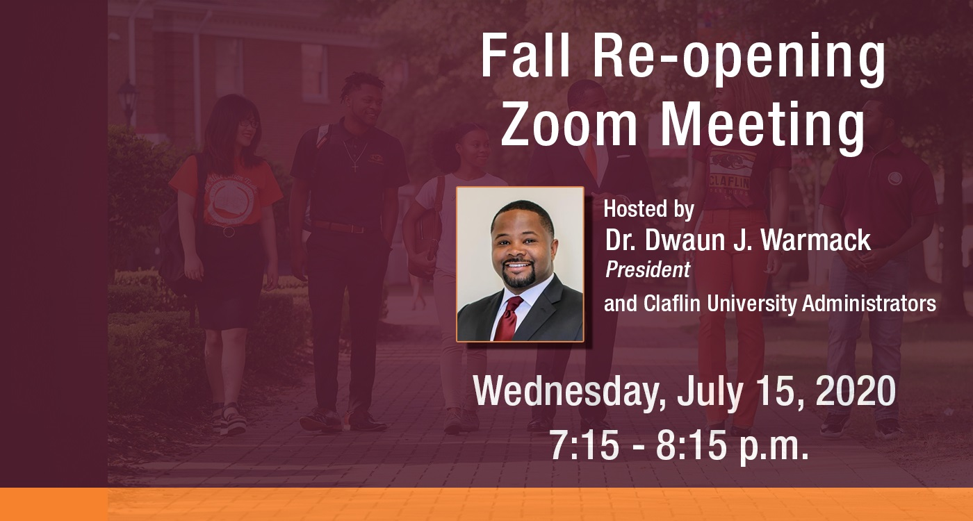 Fall re opening zoom meeting banner