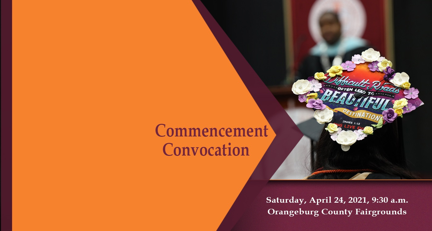 Spring 2021 Commencement Convocation web banner