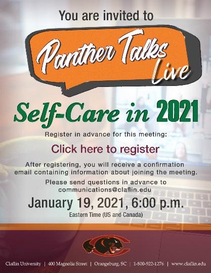 Panther Talks Self Care